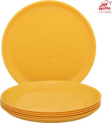 JOY HOME Quarter Plate Round Yellow Quarter Plate 6 Quarter Plate JOY HOME Plates Trays   Dishes
