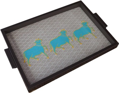 Craftghar Govardhan-Teal Tray at flipkart