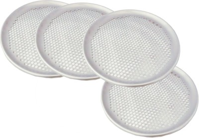 Thw 13 Inches Aluminum Perforated Pizza Coupe Tray for Thin Crust Pizzas Tray Set(Pack of 4) at flipkart