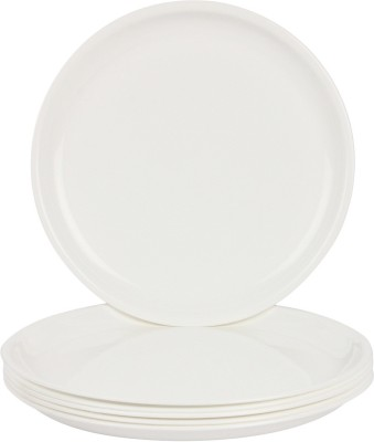 Day2Day Forever White Microwave Safe Dinner Plates Set Pack of 6  27x27x2 cm  Dinner Plate 6 Dinner Plate Day2Day Tableware   Dinnerware