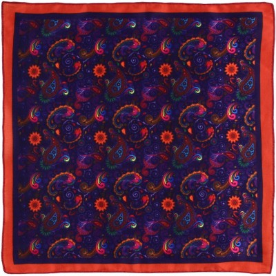 Eccellente Graphic Print Satin Blend Pocket Square at flipkart