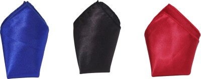 Style N Fashion Solid Silk Pocket Square