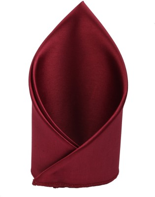 Sorellaz Solid Satin Blend Pocket Square