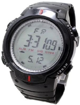 Rokcy Digital Sports Digital Son Watch with Stopwatch , Alarm   Black Dial   For Men and Boys Black Rokcy Watches