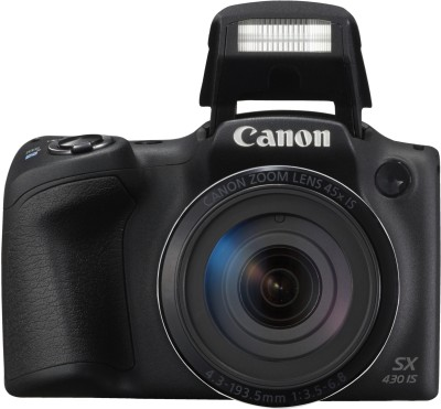 Canon PowerShot SX430 IS(20 MP, 45x Optical Zoom, 4x Digital Zoom, Black)