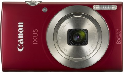 Canon IXUS 185(20 MP, 8x Optical Zoom, 8x Digital Zoom, Red)