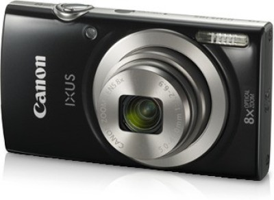 Canon IXUS 185(20 MP, 8x Optical Zoom, 8x Digital Zoom, Black)