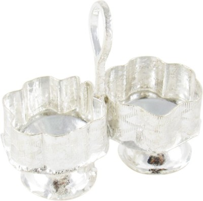 GoldGiftIdeas Two in One Kankavati, Pooja Items for Home Silver Plated Pooja & Thali Set(1 Pieces, Silver)  available at flipkart for Rs.149
