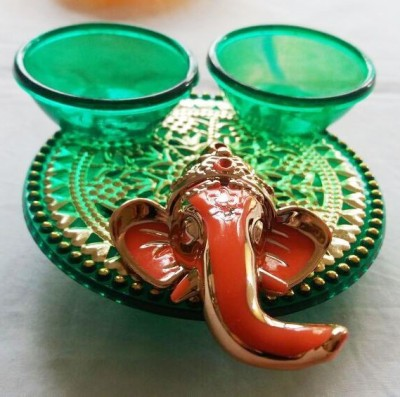 Ira Creations Plastic Pooja & Thali Set(Green)  available at flipkart for Rs.149