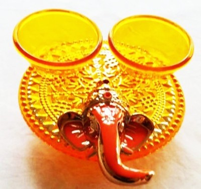 Ira Creations Plastic Pooja & Thali Set(Yellow)  available at flipkart for Rs.149