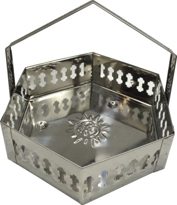 Spangle Stainless Steel Pooja & Thali Set(1 Pieces, Steel)  available at flipkart for Rs.157