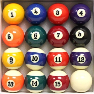Cuepoint 5026 Billiard Ball(Pack of 16, Multicolor)