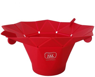 Swarish Silicone Microwave Popper 906 150 ml Popcorn Maker(Red) at flipkart