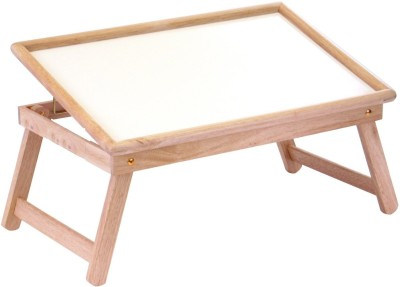 Table Mate II WOODEN WHITE TOP BEDMATE ADJUSTABLE FOLDING KIDS HOME OFFICE READING WRITING STUDY Engineered Wood Portable Laptop Table(Finish Color - Brown) at flipkart