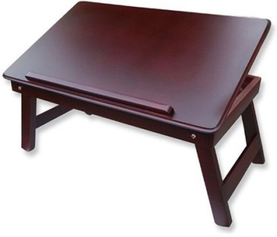 Table Mate II Solid Wood Portable Laptop Table(Finish Color - Cherry)