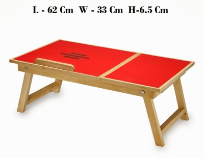 Shubham99 Engineered Wood Portable Laptop Table(Finish Color - Red)