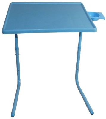 IBS Adjustable Folding Kids Mate Home Office Reading Writing Study Blue Tablemate Cupholder Plastic Portable Laptop Table(Finish Color - Blue)