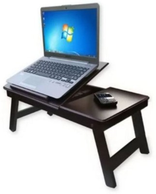 Onlineshoppee Engineered Wood Portable Laptop Table(Finish Color - Walnut Brown)