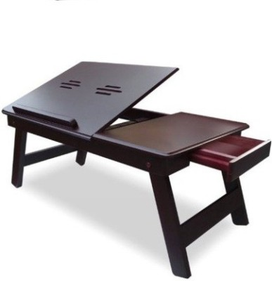 IBS Engineered Wood Portable Laptop Table(Finish Color - BROWN)