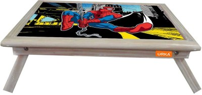 ORKA Spiderman Digital Printed Engineered Wood Portable Laptop Table(Finish Color - Black Red)