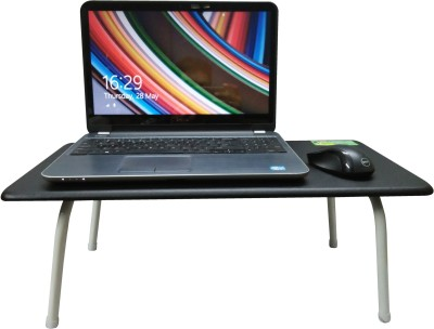 CSM Engineered Wood Portable Laptop Table(Finish Color - Black)