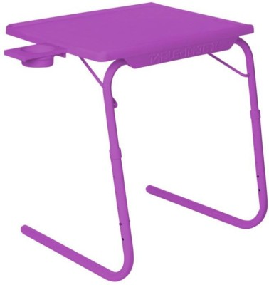 IBS ADJUSTABLE FOLDING KIDS MATE HOME OFFICE READING WRITING STUDY PURPLE TABLEMATE WITH CUPHOLDER Plastic Portable Laptop Table(Finish Color - Purple)