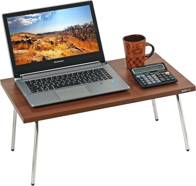 Bluewud Engineered Wood Portable Laptop Table(Finish Color - Walnut)