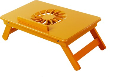 Table Mate II Heavy Duty Kids Office Study Reading Adjustable Wooden Orange Bed Mate Engineered Wood Portable Laptop Table(Finish Color - Orange)