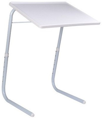 Tablemate ADJUSTABLE FOLDING KIDS HOME OFFICE READING WRITING STUDY WHITE NORMALTABLEMATE Plastic Portable Laptop Table(Finish Color - White)