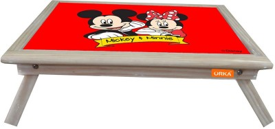 ORKA Mickey & Minnie Digital Printed Engineered Wood Portable Laptop Table(Finish Color - Red Black)