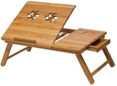 Elite Mkt Solid Wood Portable Laptop Table(Finish Color - Brown) at flipkart