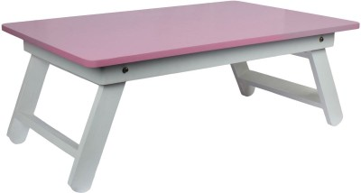 Wood-O-Plast Engineered Wood Portable Laptop Table(Finish Color - Pink)