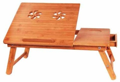Hi5bazar hi5lt003 Engineered Wood Portable Laptop Table(Finish Color - Brown)