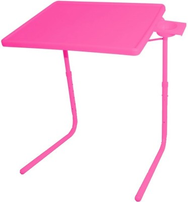 IBS ADJUSTABLE FOLDING KIDS MATE HOME OFFICE READING WRITING STUDY PINK TABLEMATE WITH CUPHOLDER Plastic Portable Laptop Table(Finish Color - Pink)