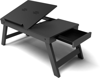 Home Sparkle Solid Wood Portable Laptop Table(Finish Color - Black)