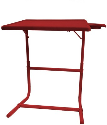 Tablemate Red Platinum Tablemate With Double Foot Rest Adjustable Folding Study Cupholder Kids Reading Breakfast Plastic Portable Laptop Table(Finish Color - Red)