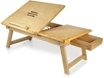 Shubham99 Engineered Wood Portable Laptop Table(Finish Color - Wood Finish)