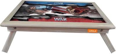 ORKA Civil War Digital Printed Engineered Wood Portable Laptop Table(Finish Color - Blue Red)