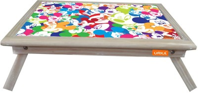 ORKA Mickey Faces Digital Printed Engineered Wood Portable Laptop Table(Finish Color - Multicolor)