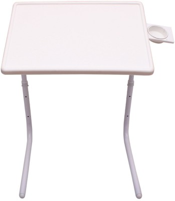 MyTableMate Plastic Portable Laptop Table(Finish Color - White)