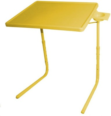 Tablemate ADJUSTABLE FOLDING KIDS MATE HOME OFFICE READING WRITING STUDY YELLOW TABLEMATE WITH CUPHOLDER Plastic Portable Laptop Table(Finish Color - Yellow)