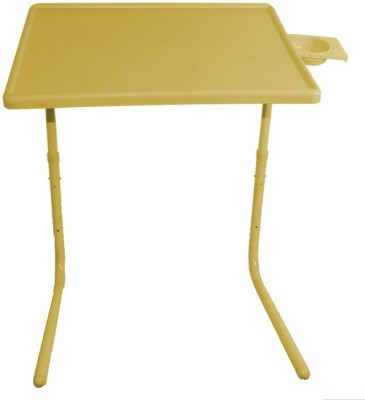 Tablemate ADJUSTABLE FOLDING KIDS MATE HOME OFFICE READING WRITING YELLOW TABLEMATE WITH CUPHOLDER Plastic Portable Laptop Table(Finish Color - Yellow)