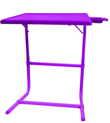Tablemate Purple Platinum Tablemate With Double Foot Rest Adjustable Folding Study Cupholder Kids Reading Breakfast Plastic Portable Laptop Table(Finish Color - Purple)