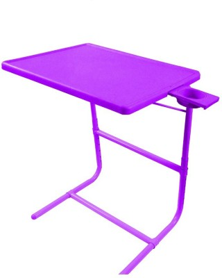 IBS PLATUNUM DOUBLE FOOTREST ADJUSTABLE FOLDING KIDS MATE HOME OFFICE READING WRITING PURPLE STUDY TABLEMATE WITH CUPHOLDER Plastic Portable Laptop Table(Finish Color - Purple)
