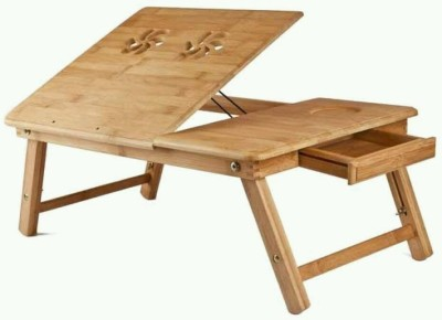 Kinsco Kine Engineered Wood Portable Laptop Table(Finish Color - Brown) at flipkart