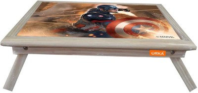 ORKA Captain America Digital Printed Engineered Wood Portable Laptop Table(Finish Color - Blue Red)