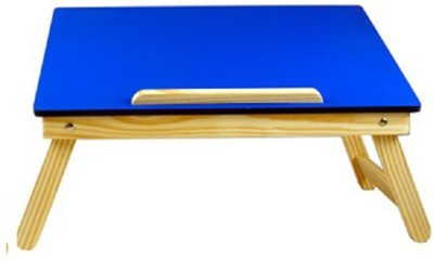 Cart4Craft Plain MDF Color Engineered Wood Portable Laptop Table(Finish Color - Blue)