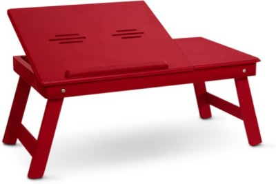 Colorwood Solid Wood Portable Laptop Table(Finish Color - Red)