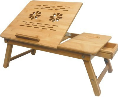 SK Engineered Wood Portable Laptop Table(Finish Color - Brown)