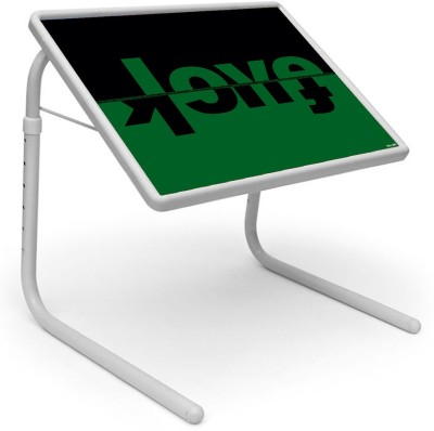 Shopper52 Plastic Portable Laptop Table(Finish Color - Green::Black)